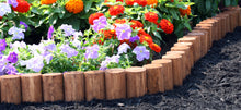 Wooden Full Log Lawn Edging 30 in x 5 in (6 Pack) RC43M-6C close up