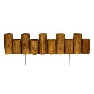 Wooden Full Log Staggered Lawn Edging 3 ft x 7 in (6 Pack) RC47B-6C