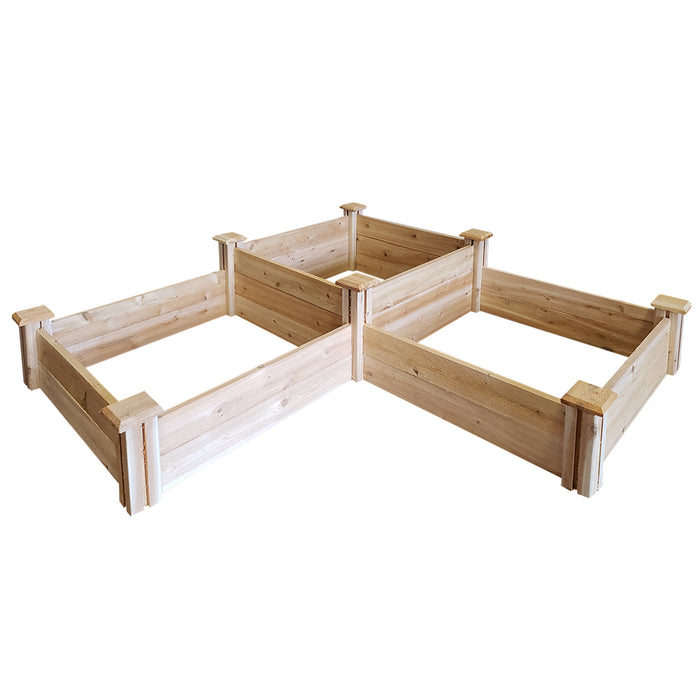 Original Cedar Raised Garden Bed 2-Tiered 2 ft x 6 ft RC264S4T