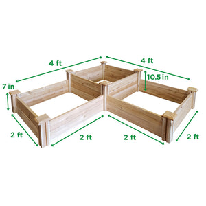 Cedar Raised Garden Bed 2-Tiered 2 ft x 6 ft RC264S4T Measurements
