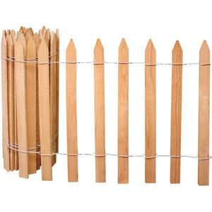 Cedar Garden Picket Fence 15 ft x 2 ft RC14C