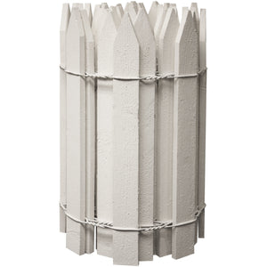 White Wooden Garden Picket Fence 8 ft x 16 in RC28W