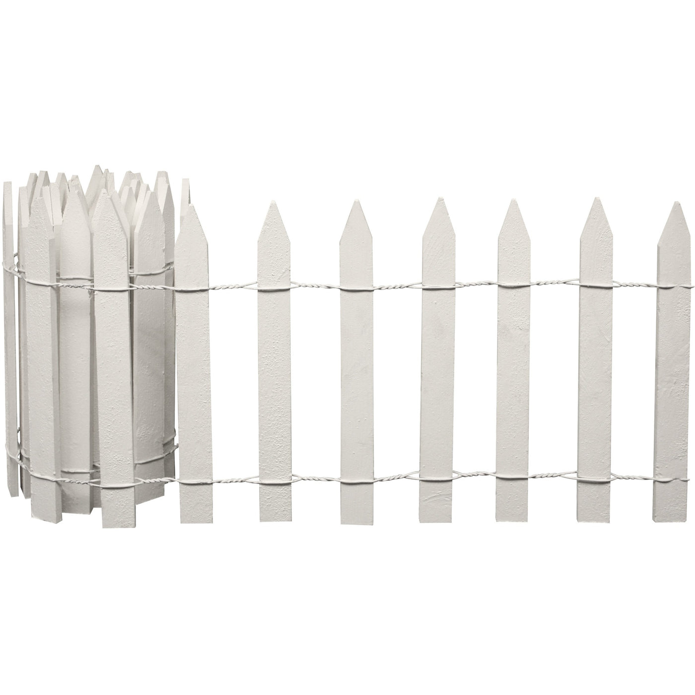 ... White Wooden Garden Picket Fence 8 Ft X 16 In RC28W In Use