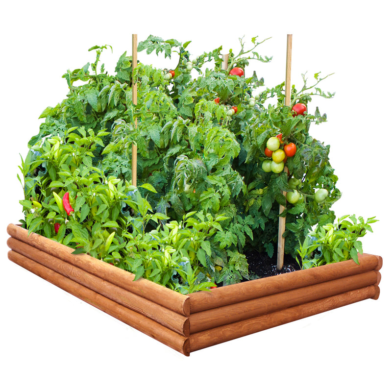 Log Style Raised Garden Bed 4 Ft X 6 Ft X 9 In RC4RB6