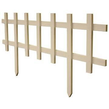 Small Deluxe Picket Fence - White (12 Pack)