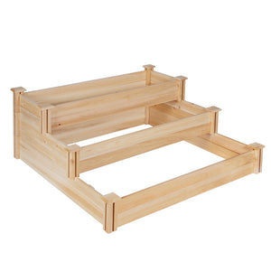 Cedar Raised Garden Bed 3-Tier 4 ft x 4 ft RC4T3 unplanted