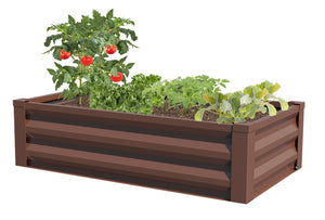 Metal Raised Garden Bed 47 in x 26 in x 12 in RCM24TB