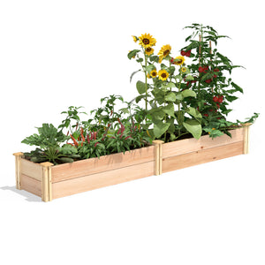 Premium Cedar Raised Garden Bed 16 in x 8 ft x 11 in RC169612P