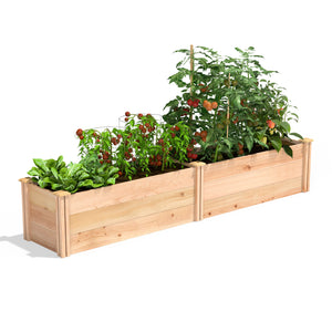 Premium Cedar Raised Garden Bed 16 in x 8 ft x 16.5 in RC169618P
