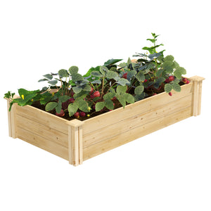 Original Cedar Raised Garden Bed 2 ft x 4 ft x 10.5 in RC24484T