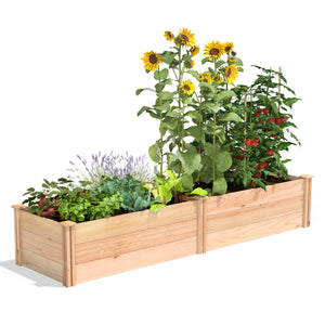 Premium Cedar Raised Garden Bed 2 Ft X 8 Ft X 16.5 RC249618P