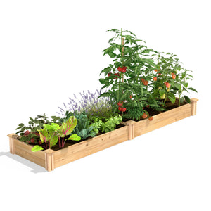 Original Cedar Raised Garden Bed 2 ft x 8 ft x 7 in RC24967