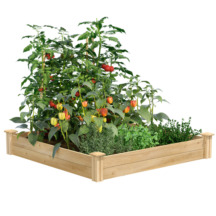 Original Cedar Raised Garden Bed 4 ft x 4 ft x 7 in RC4C4