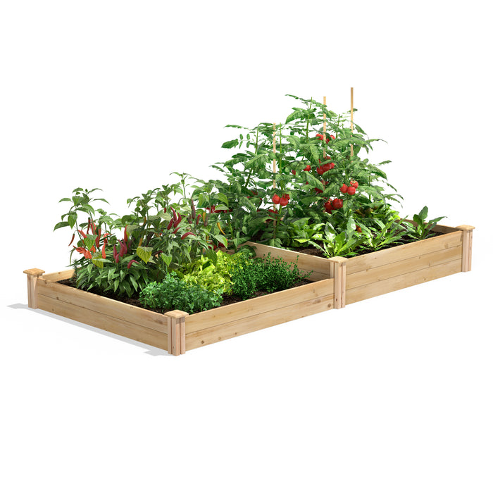 Original Cedar Raised Garden Bed 2 Tier 4 ft x 8 ft RC4C8T2