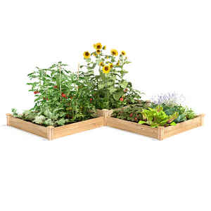 Original Cedar Raised Garden Bed 2-Tiered 4 ft x 12 ft RC4T4S24B
