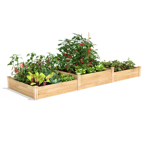 Original Cedar Raised Garden Bed Tall Tiers 4 ft x 12 ft RC4T8S34B