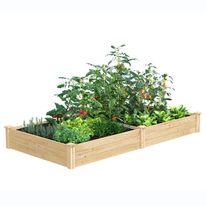 Original Cedar Raised Garden Bed 4 ft x 8 ft x 10.5 in RC6T21B