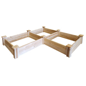 Cedar Raised Garden Bed 2 ft x 6 ft x 7 in RC268S