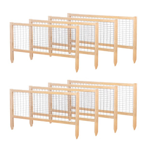 CritterGuard Cedar Fence Set for 4 ft x 8 ft Cedar Raised Bed RCCG4X8