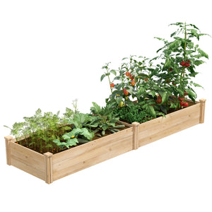 "Best Value Cedar Raised Garden Bed Planter 24"" W x 96"" L x 10.5"" H RCEC24966T"