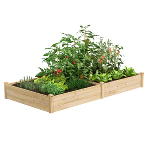 "Best Value Cedar Raised Garden Bed Planter 48"" W x 96"" L x 10.5"" H RCEC6T21B"