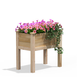 Original Cedar Elevated Garden Bed 32 in x 16 in x 31 in RCEV1632
