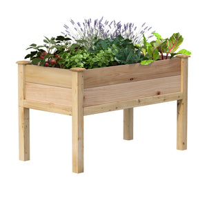 Premium Cedar Elevated Garden Bed 24 in x 48 in x 31 in RCEV2448P