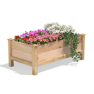 Premium Cedar Elevated Garden Bed 24 in x 48 in x 19 in RCEV244819P