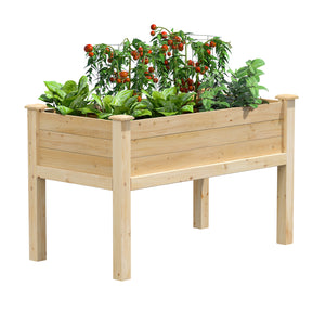 Cedar Elevated Garden Bed 48 in x 24 in x 31 in RCEV2448