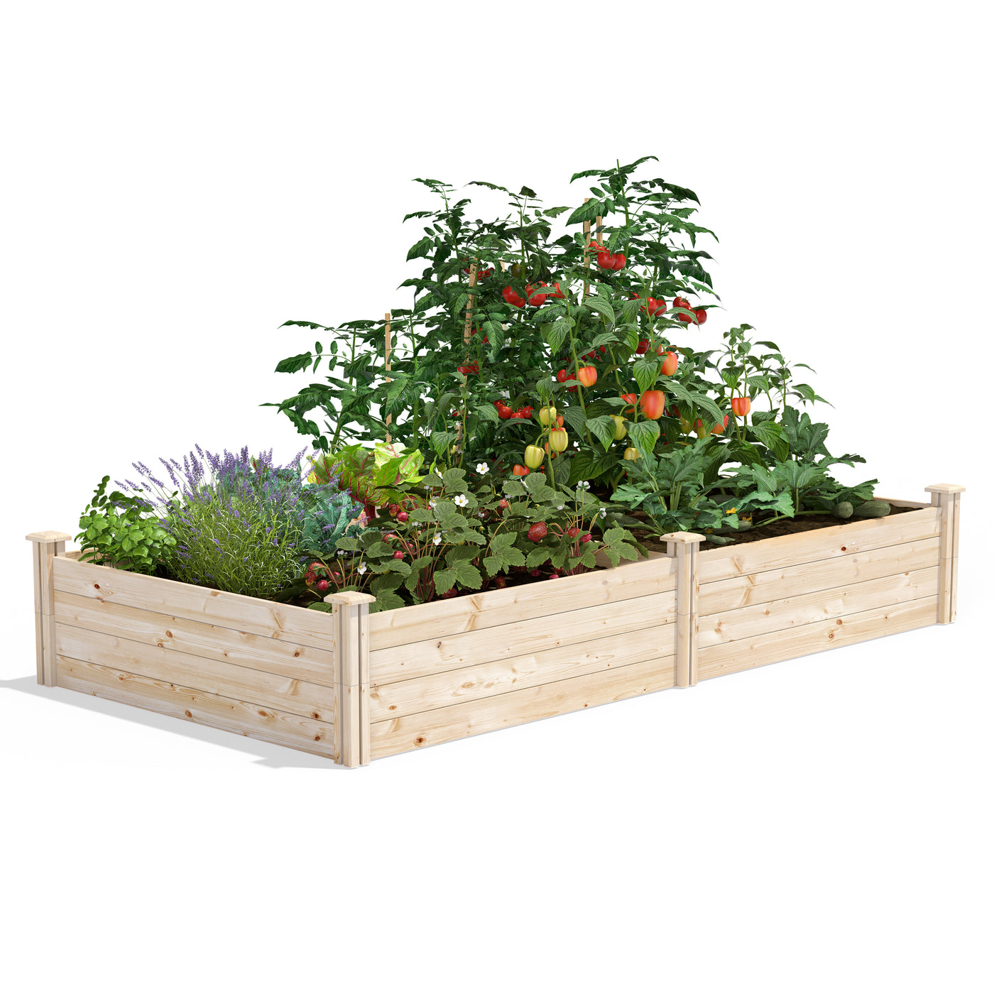 Cedar Raised Garden Bed 4 Ft X 8 Ft X 14 In Rc12s28b Greenes Fence Greenes Fence Company