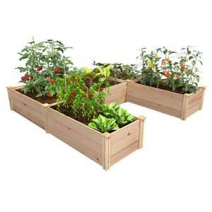 Premium Cedar Raised U-Shaped Garden Bed RCUSB