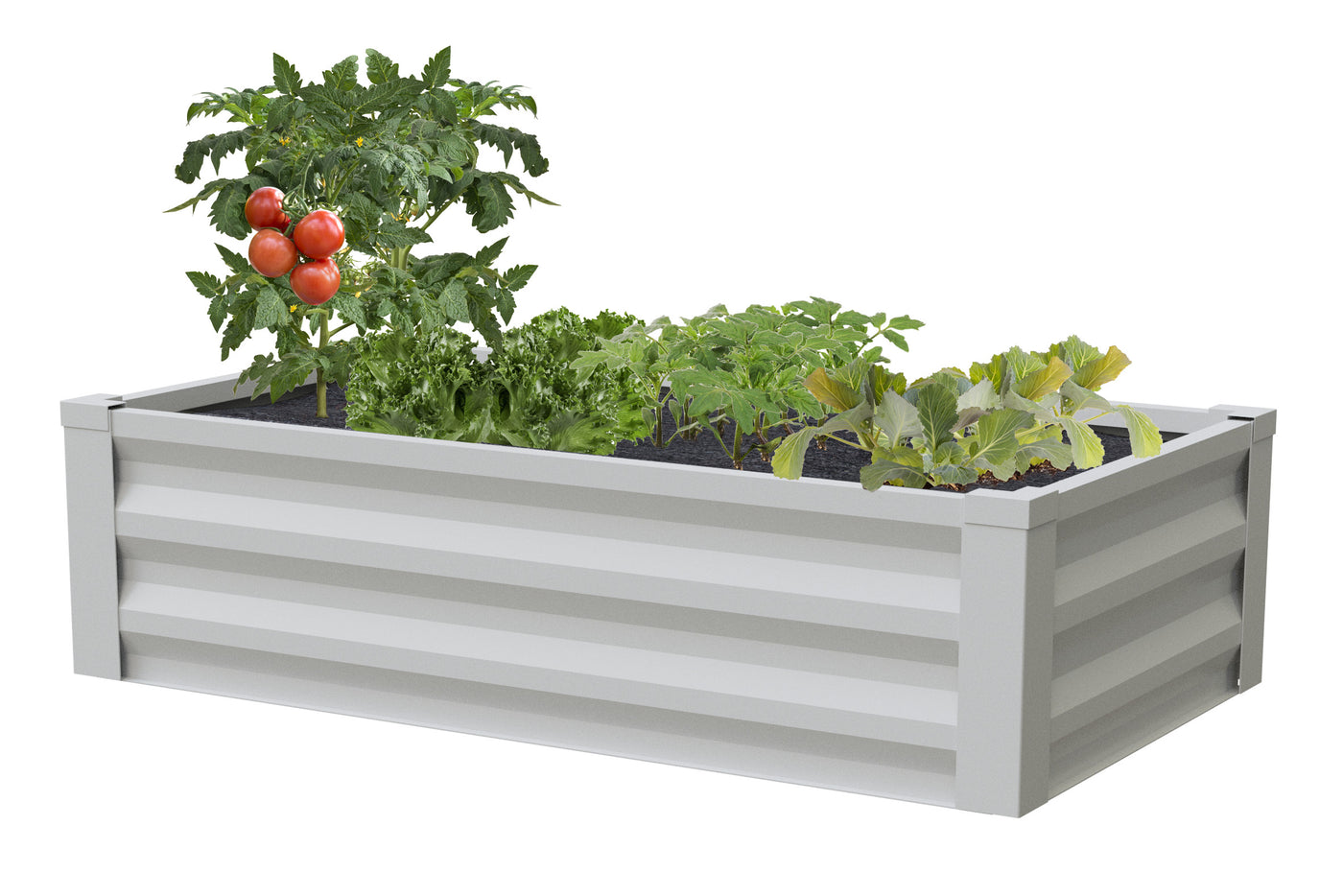 Picture of: Metal Raised Garden Bed 47 In X 26 In X 12 In Rcm24 Greenes Fence Greenes Fence Company