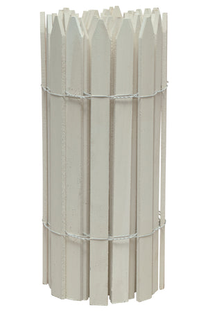 White Wood Garden Picket Fence 15 ft x 2 ft RC14W