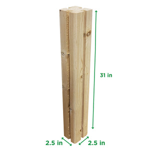 Cedar Compost Post Measurements
