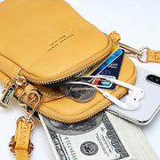 Women PU Phone Bag Solid Color Shoulder Bag