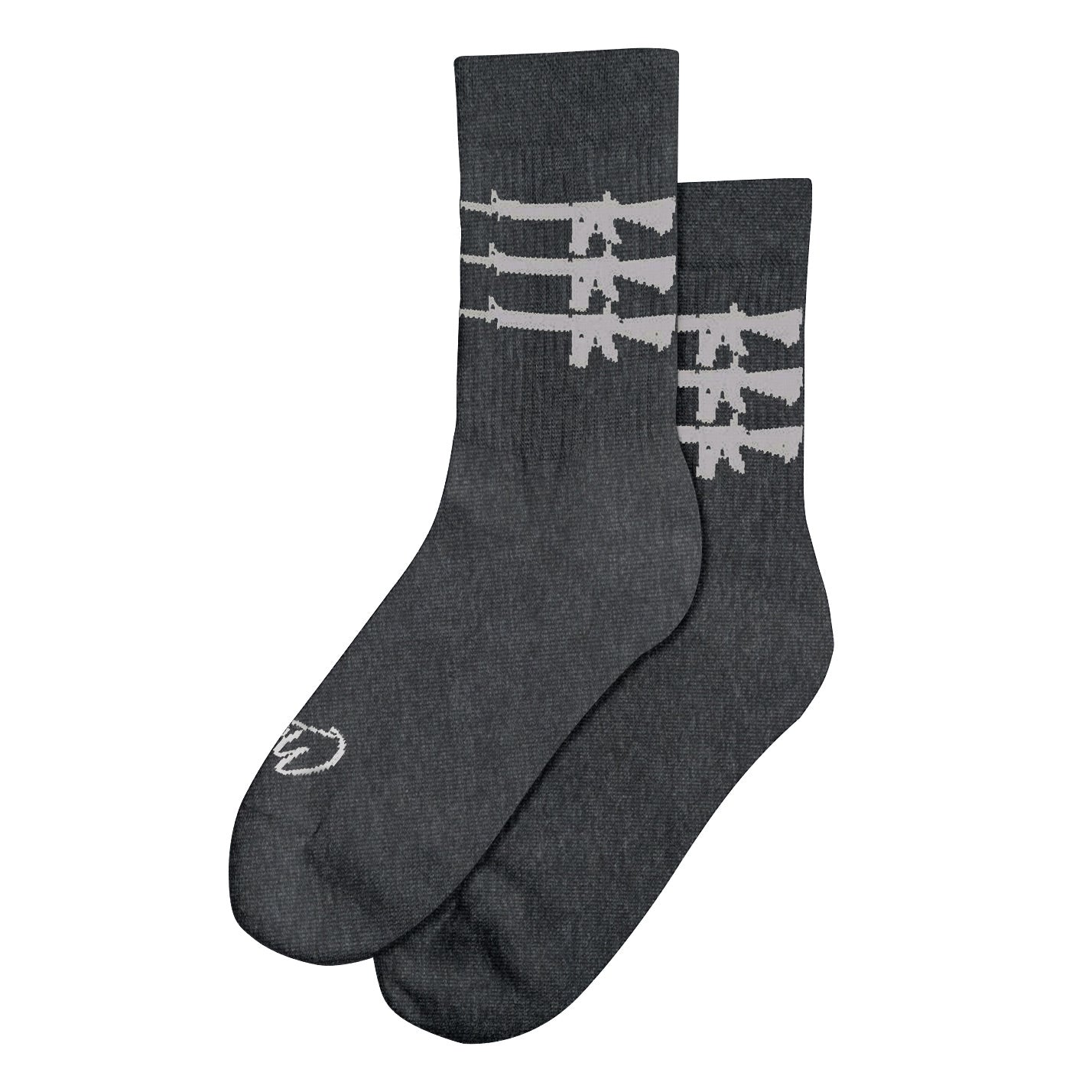 """Triplegun"" Socks - Grey"