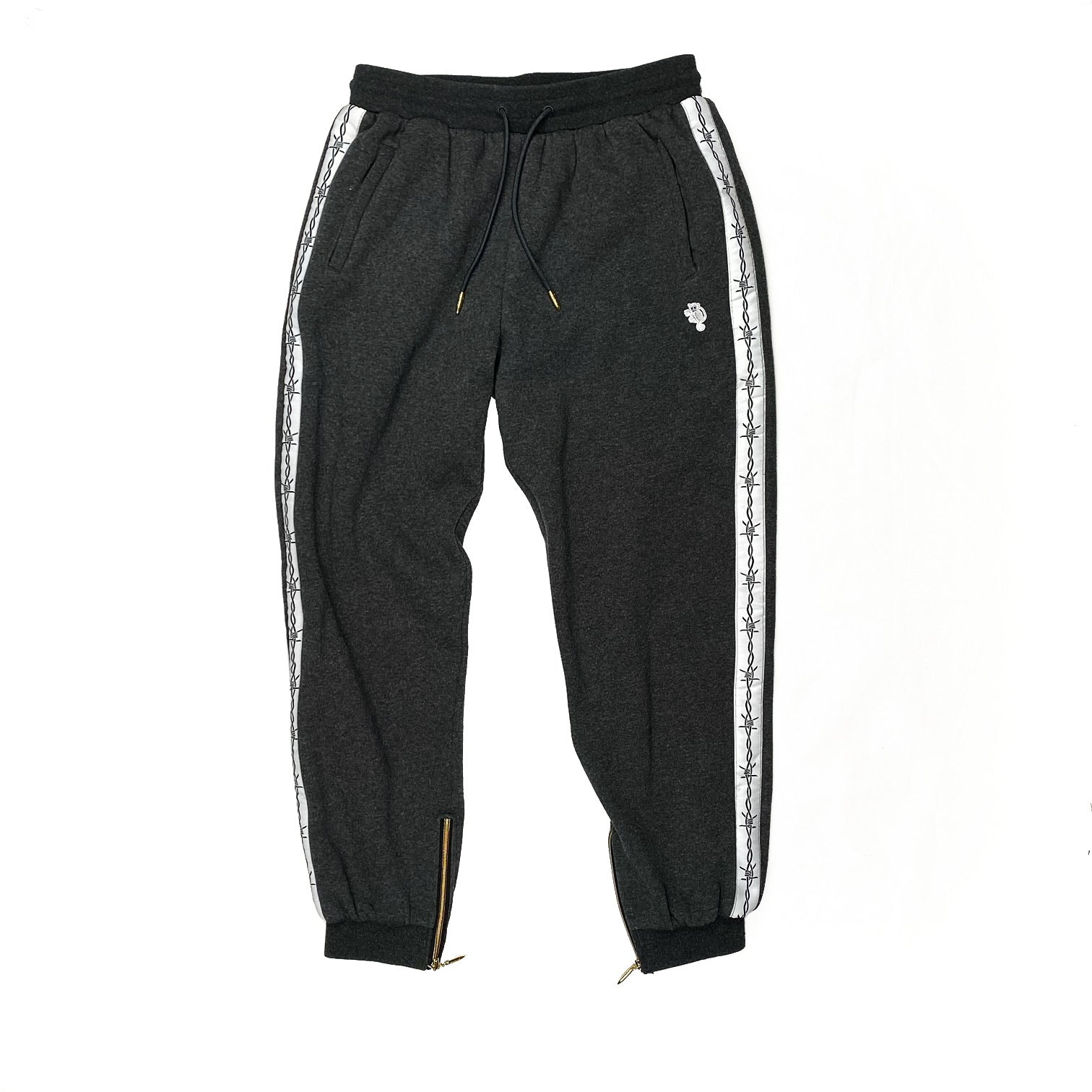 """Striped"" Sweatpants Dark Grey"