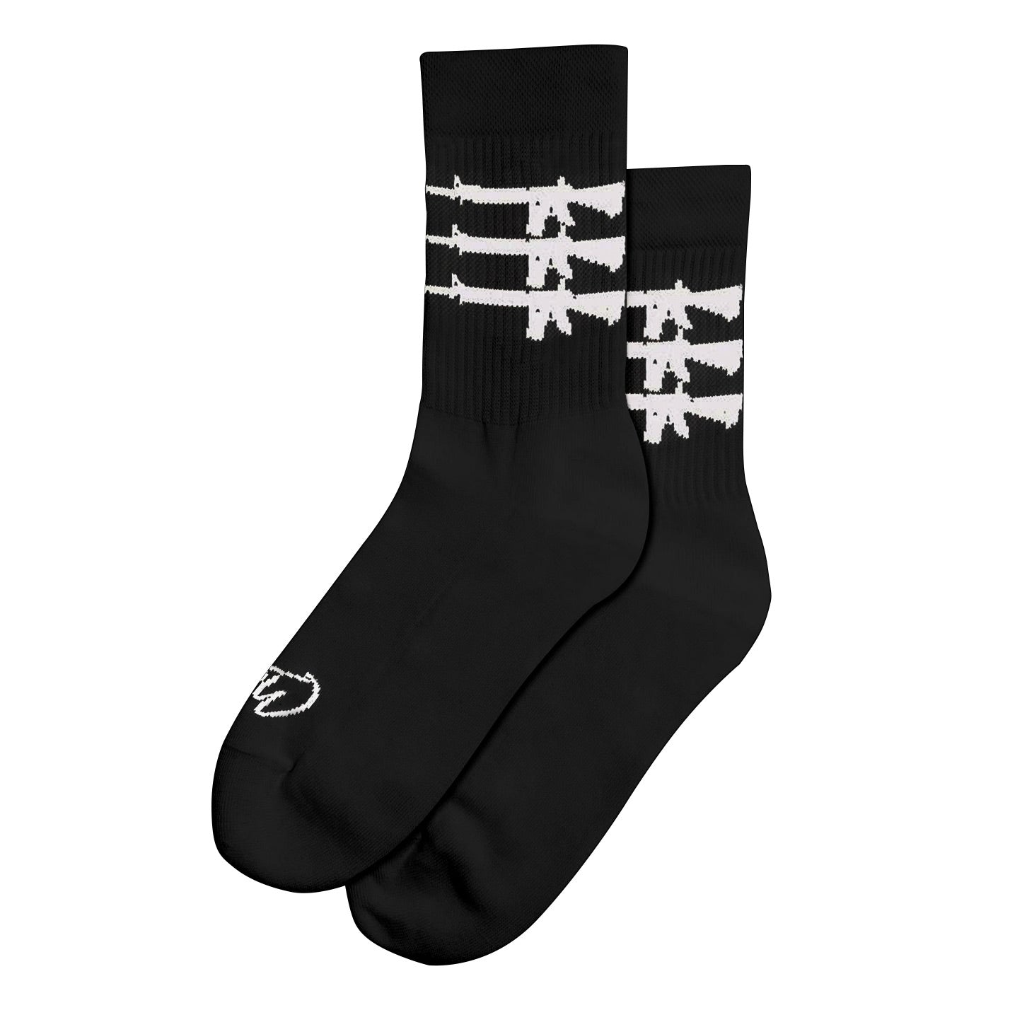 """Triplegun"" Socks - Black"