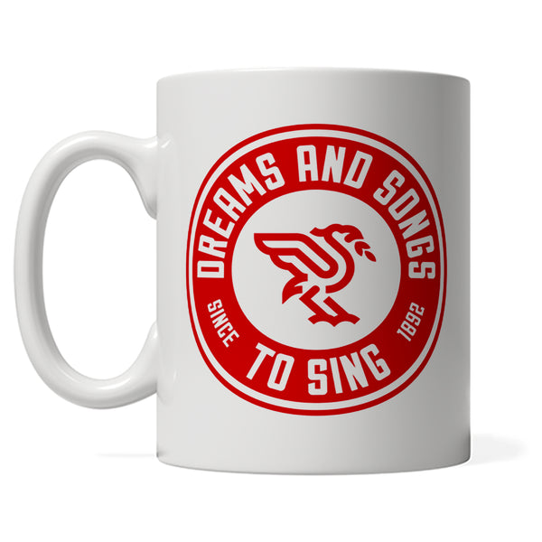 White DASTS Branded mug