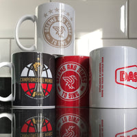 Six Times Badge & Bottle Tops mug