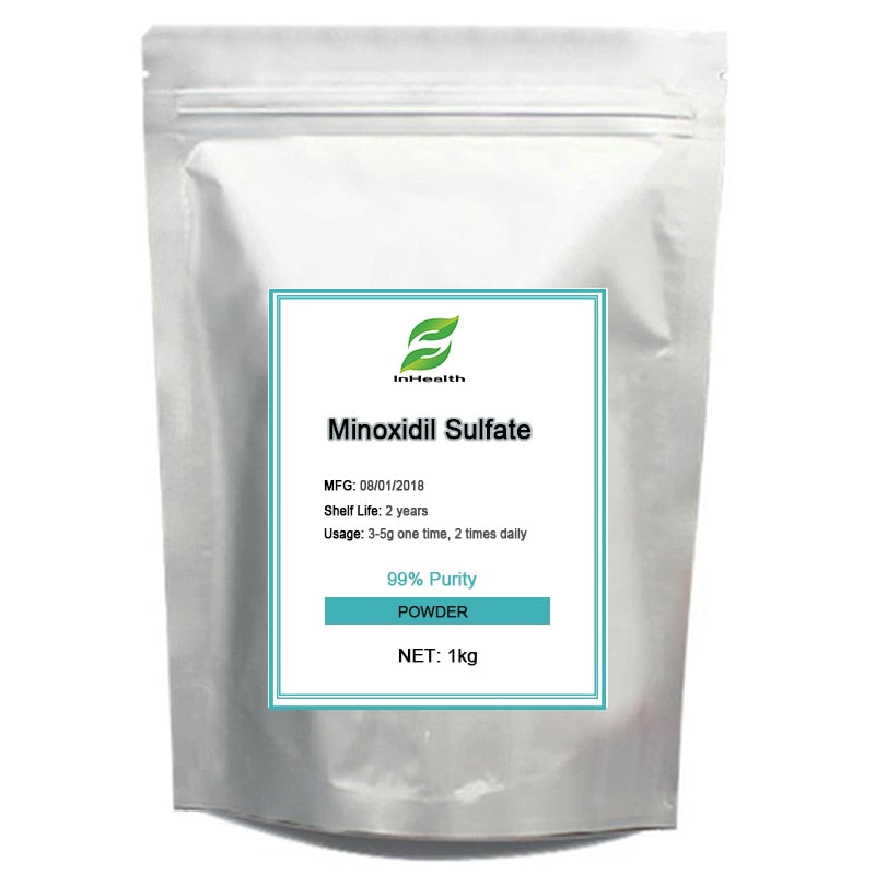 1KG Best quality 99% Purity Minoxidil Sulfate, Hair growth, Hair loss  treatment
