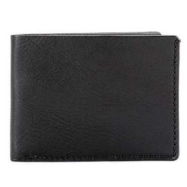 Bosca Washed Small Bifold Wallet - Black