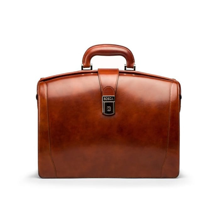 Bosca Old Leather Amber Small Partners Brief
