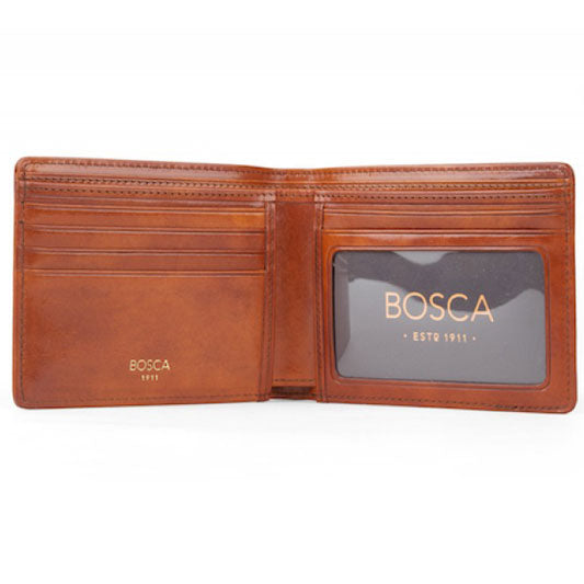 Bosca Old Leather Amber Continental ID Wallet