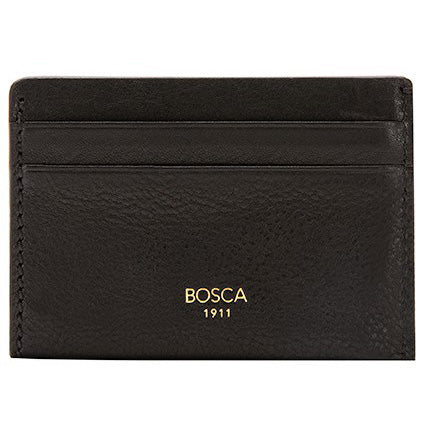 Bosca Washed Weekend Wallet - Black