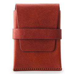 Bosca Washed Envelope Card Case - Cognac