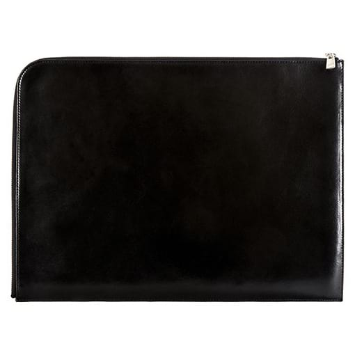 "Bosca Old Leather Black 16"" Envelope"