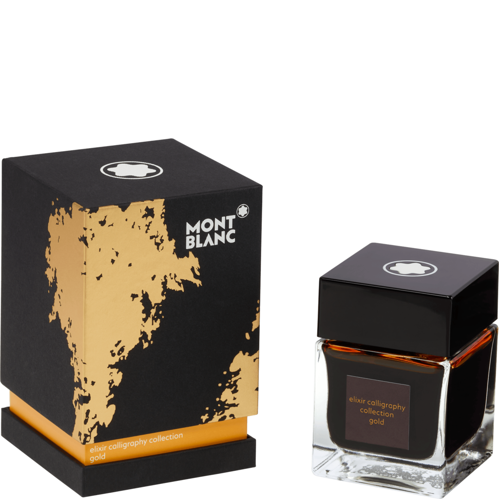 Montblanc Bottled Ink - Elixir Calligraphy Collection - Gold - 50ml-Pen Boutique Ltd