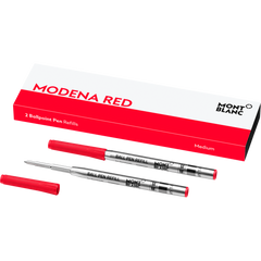 Montblanc Ballpoint Refill - Modena Red - Medium (2 Per Pack)-Pen Boutique Ltd