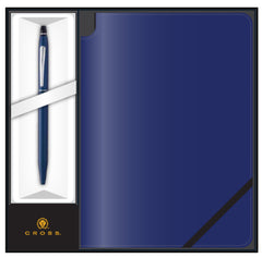 Cross Click Midnight Blue Pen with Midnight Blue Journal Gift Set